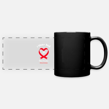 Donor I Wear Red For Blood Donation Awareness - Full Color Panoramic Mug