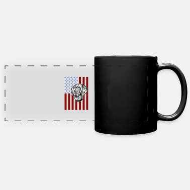 Pointer German Shorthaired Pointer Funny American Flag 4th - Full Color Panoramic Mug
