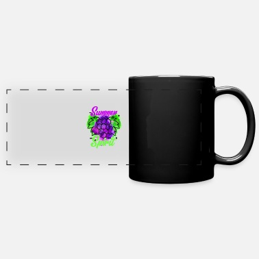 Sunny Summer Spirit Grapes - Full Color Panoramic Mug