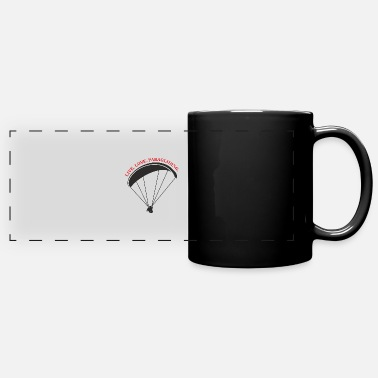 Thermals live love paragliding - Full Color Panoramic Mug