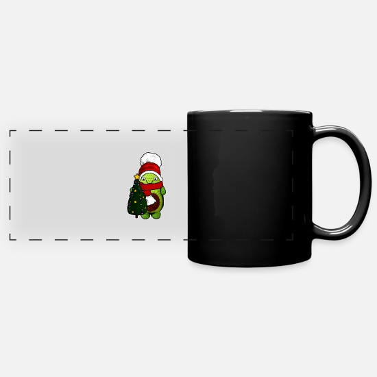 Avocado Mugs & Drinkware - xmas avocado with xmas tree bestseller - Full Color Panoramic Mug black