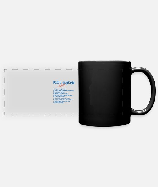 Favorite Mugs & Cups - Dad's favorite sayings - Full Color Panoramic Mug black