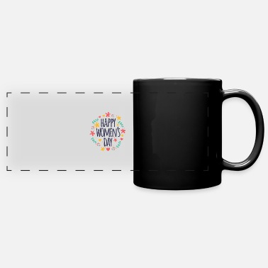 womens day 8 march flower - Full Color Panoramic Mug