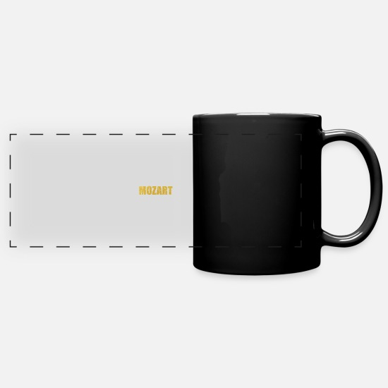 Typography Mugs & Drinkware - Mozart... Inspirational Fashion - Full Color Panoramic Mug black