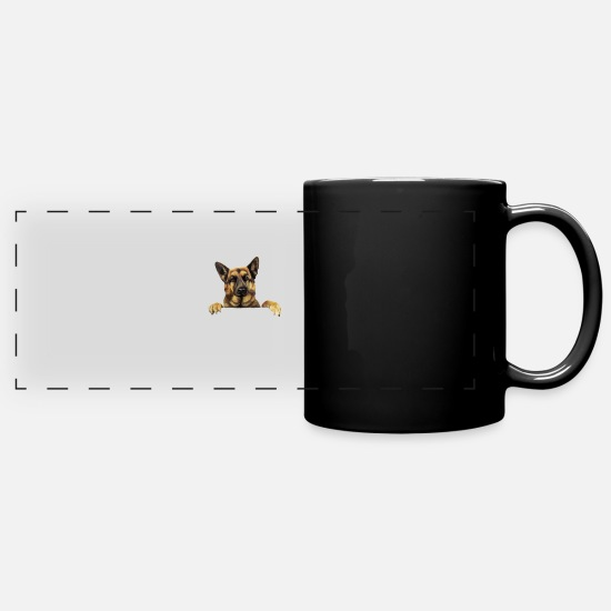 German Mugs & Drinkware - German Shepherd T shirt German Shepherd Power - Full Color Panoramic Mug black