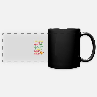 Just Garden gardener and chickens gift - Full Color Panoramic Mug