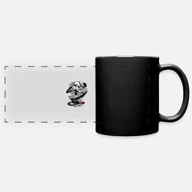 Jiu-jitsu Jiu Jitsu BJJ Skull Jiu Jitsu Black Belt Light - Full Color Panoramic Mug