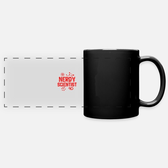 Trend Mugs & Drinkware - Nerdy Scientist - Full Color Panoramic Mug black