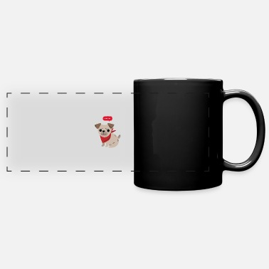 Cute pug pun - Full Color Panoramic Mug
