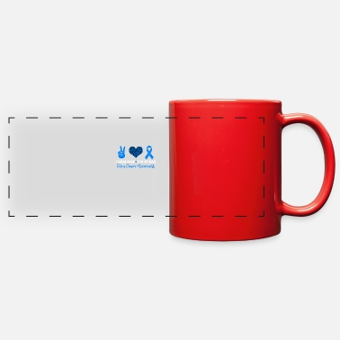 I Heart I Wear Blue For My Dad Colon Cancer Awareness - Full Color Panoramic Mug