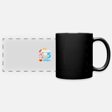 5th Birthday This Mad Scientist Is 5 Let's Experim - Full Color Panoramic Mug