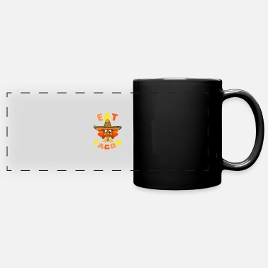 November Eat Tacos Cute Baby Turkey Wearing Mexican - Full Color Panoramic Mug