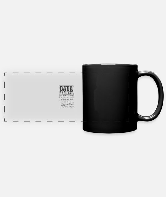 Data Preservation  Mugs & Cups - Data Analyst Definition Gift Mug - Full Color Panoramic Mug black