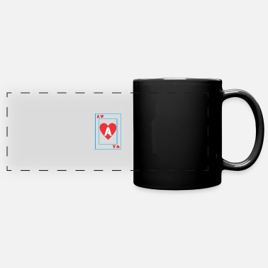 Playing A playing card - Full Color Panoramic Mug
