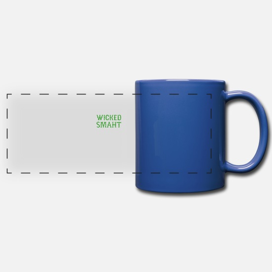 Wicked Mugs & Drinkware - Wicked Smaht Funny - Full Color Panoramic Mug royal blue