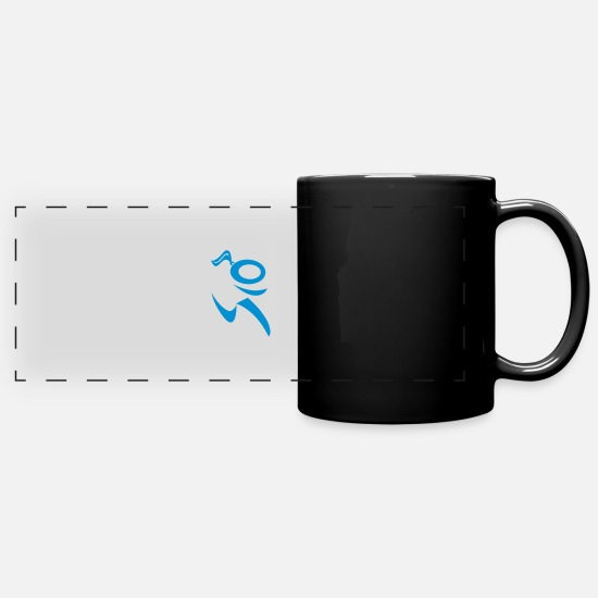 Girl Running Mugs & Drinkware - runner - Full Color Panoramic Mug black