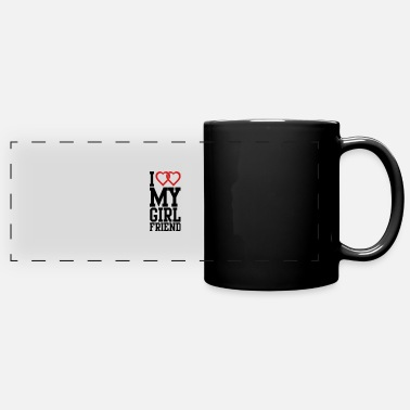 I Love My Girlfriend I love my Girlfriend - Full Color Panoramic Mug
