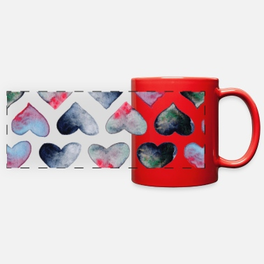 Drink love once a day - Full Color Panoramic Mug