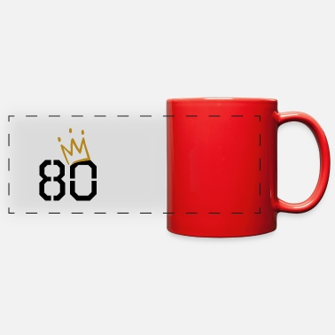80 Years Old 80 years old crown - Full Color Panoramic Mug