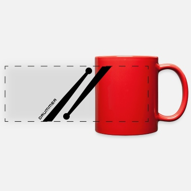 Drumsticks Drumstick Design Drummer - Full Color Panoramic Mug