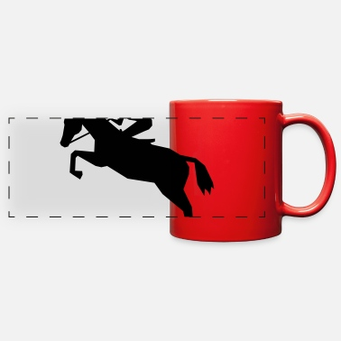 Horse Racing Jockey - horse racing - Full Color Panoramic Mug