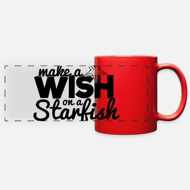 Starfish MAKE A WISH ON A STARFISH - Full Color Panoramic Mug