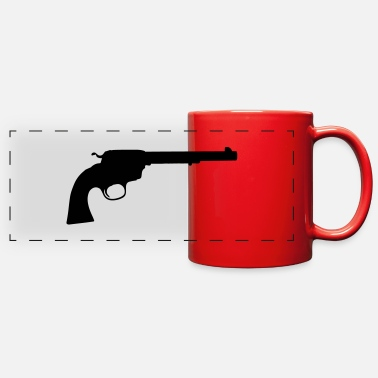 Revolver revolver silhouette - Full Color Panoramic Mug
