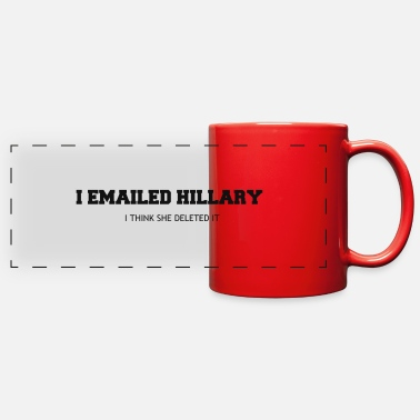 Email EMAILED HILLARY - Full Color Panoramic Mug