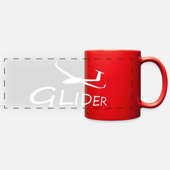 Flight Mugs & Drinkware - Glider Giftidea for Glider Pilot - Full Color Panoramic Mug red