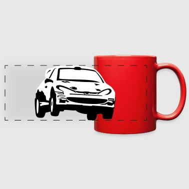 Rally car, racing car - Full Color Panoramic Mug