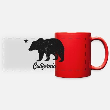 Los Angeles California Bear Vintage Dark Grey - Full Color Panoramic Mug
