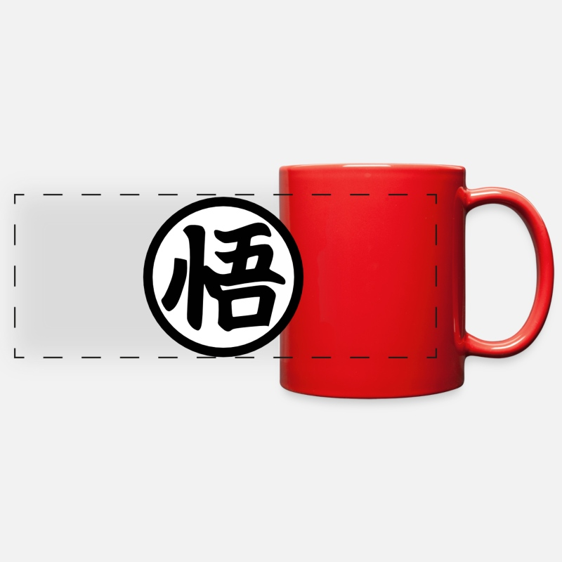 Ball Mugs & Drinkware - Goku Kanji Mug - Full Color Panoramic Mug red