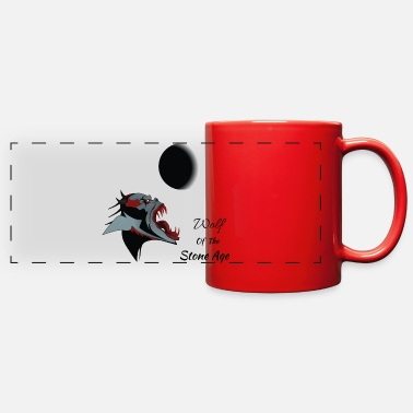 Age wolf of the stone age - Full Color Panoramic Mug