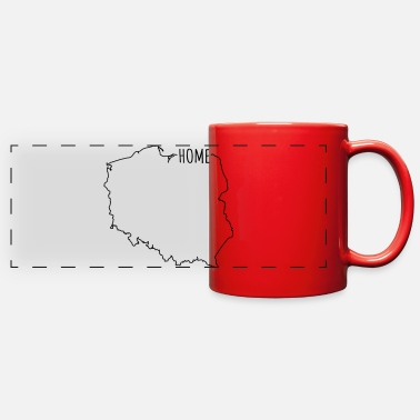 Polish Friend Polska Map Poland Home - Full Color Panoramic Mug