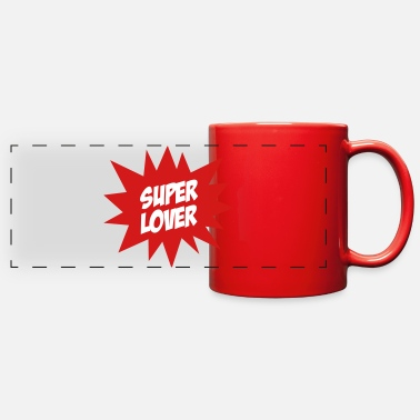 Romantic Joke Darling Super Lover - Full Color Panoramic Mug