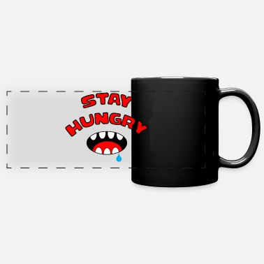 Stay Hungry Stay Foolish Stay Funny Serrated Mouth - Full Color Panoramic Mug
