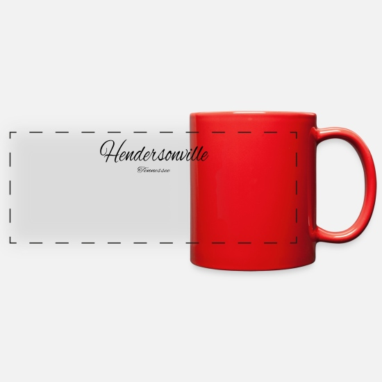 Baseball Mugs & Drinkware - Tennessee Hendersonville US DESIGN EDITION - Full Color Panoramic Mug red