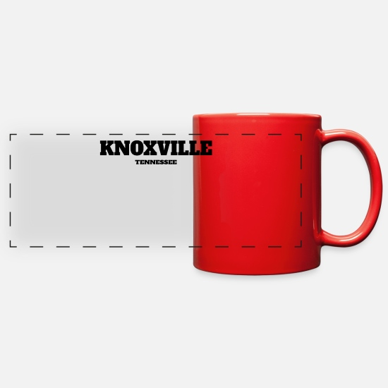 Baseball Mugs & Drinkware - TENNESSEE KNOXVILLE US EDITION - Full Color Panoramic Mug red