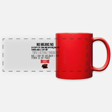 Meaning No means no - Full Color Panoramic Mug