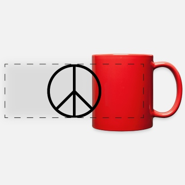 Sign Peace sign - Full Color Panoramic Mug