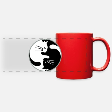 Yang Ying Yang,Cat,Animal,Tiger,Buddha, ✔ - Full Color Panoramic Mug