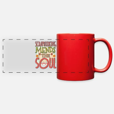 Crafting Scrapbooking Mends the Soul Crafter - Full Color Panoramic Mug