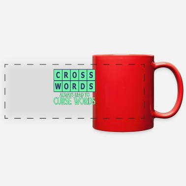 Puzzler Puzzler Gift Crosswords Lead to Curse Words - Full Color Panoramic Mug