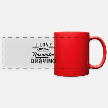 Jobs Agricultural Machine Harvest Combine Harvester Dri - Full Color Panoramic Mug