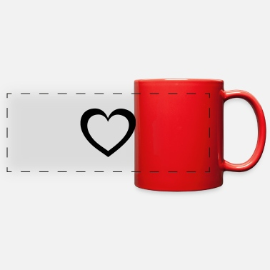 heart - Full Color Panoramic Mug
