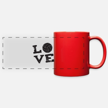Volley volley love - Full Color Panoramic Mug