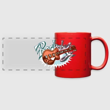 rockabilly logo - Full Color Panoramic Mug