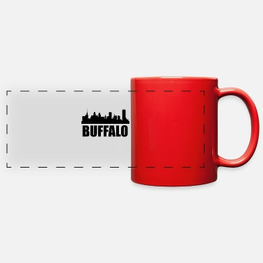 Buffalo Ny Buffalo NY Skyline - Full Color Panoramic Mug