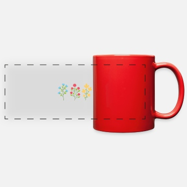 Silhouette Environmental protection gift environment flowers - Full Color Panoramic Mug