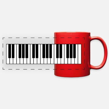 Piano piano, piano keys - Full Color Panoramic Mug